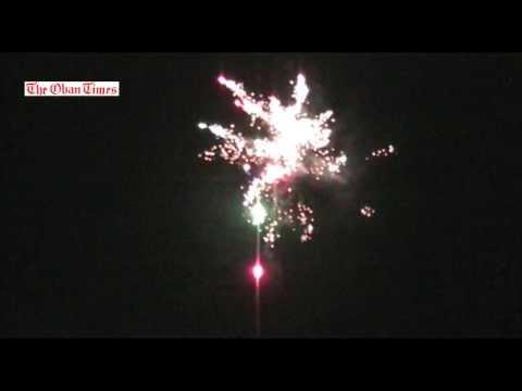Oban fireworks 2013
