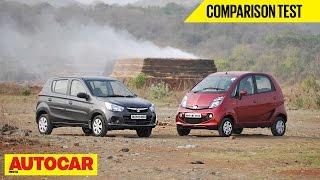 Tata Nano AMT vs Maruti Alto K10 AMT | Comparison Test | Autocar India