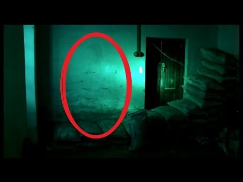 Ghost caught on tape in Cement Factory room!! Scary ghost images