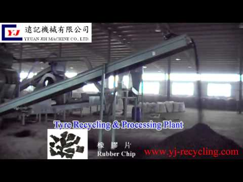 tyre recycling and processing plant