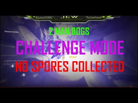 2 Man Dogs Challenge Mode! No Spores Collected!