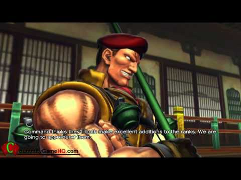 Street Fighter X Tekken - SFXT Rolento and Ibuki Rival Battle CutScene Cinematic