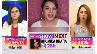 FameNFoMo: Instagram sensation Nitibha Kaul on NewsX - NEWSXLIVE