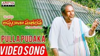 Pulla Pudaka Video Song | Annadata Sukhibhava Songs | R.Narayana Murthy - ADITYAMUSIC