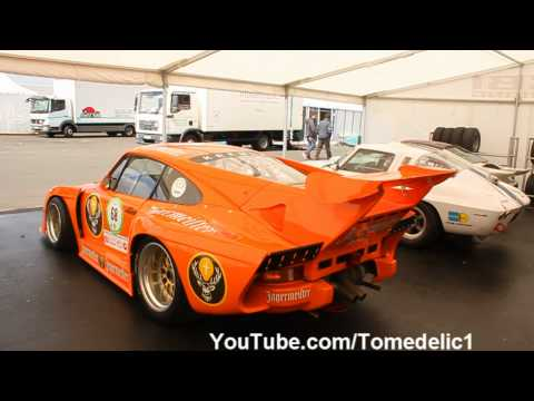 4x Porsche Kremer 935 K3 Turbo - Big Flames and Backfire!
