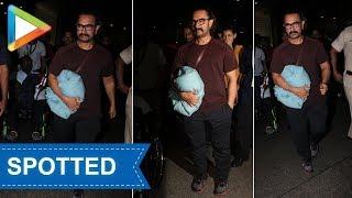 Aamir Khan SPOTTED at Mumbai airport - HUNGAMA
