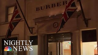 Burberry Apologizes After Model Wears Hoodie With Noose-Like Drawstring | NBC Nightly News - NBCNEWS