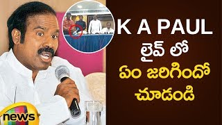 Funny Incident In KA Paul Press Meet | AP Political News | KA Paul Latest Press Meet | Mango News - MANGONEWS