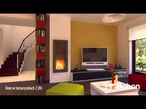 Dom w tamaryszkach 2 (N)- Wirtualny spacer po wnętrzu, projekt ARCHON+