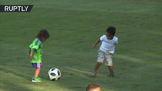 Football cuteness: Brazil stars' kids play football & with Matryoshkas - RUSSIATODAY