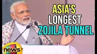 PM Modi's Speech at Commencement of work on Zojila Tunnel | Mango News - MANGONEWS