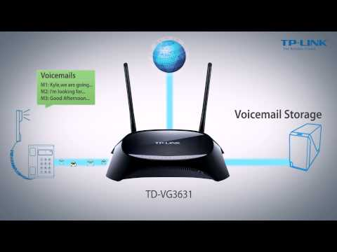 Introducing TP-LINK's 300Mbps Wireless N VoIP ADSL2+ Modem Router TD-VG3631