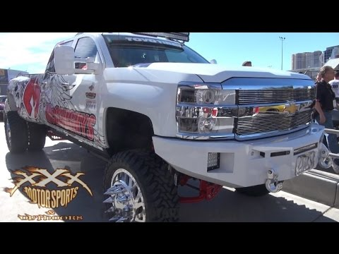 WORLD'S MOST EXTREME LIFTED TRUCKS & JEEPS at SEMA - PART 2!!