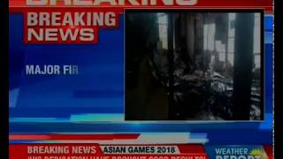 Major fire breaks out near AIIMS, New Delhi; entire nursing college reduced to ashes - NEWSXLIVE