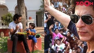 Shah Rukh Khan fans take a stand against false news against him   Taimur plays Ukulele & more - ZOOMDEKHO