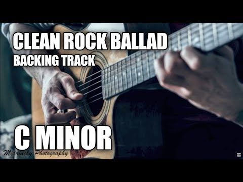 Clean Rock Ballad Guitar Backing Track In C Minor
