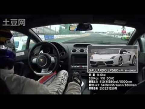 Lamborghini Gallardo VS Nissan GT-R at Tsukuba racetrack - Tsukuba 5laps battle