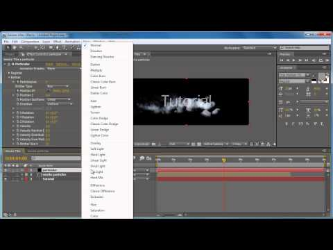 "Adobe After effects CS4 Tutorial ""Smoke Title"" German HD"