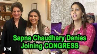 Sapna Chaudhary Denies Joining CONGRESS - IANSINDIA