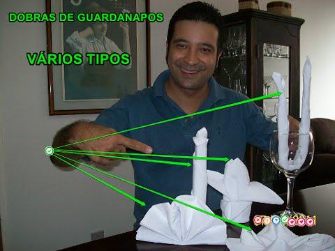 Várias Dobras de Guardanapos - Instrutor Denis de Moraes