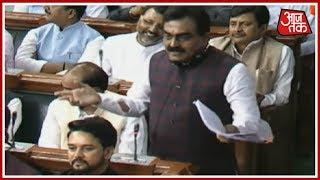 No Confidence Motion   BJP MP राकेश सिंह के भाषण पर सदन में हंगामा; PM Modi के चेहरे पर मुस्कराहट - AAJTAKTV
