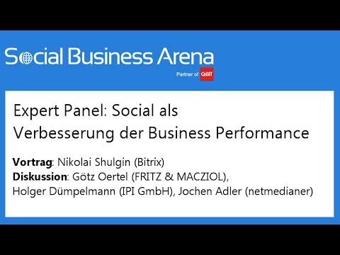 #cebitsba 2014 | Expert-Panel: Social als Verbesserung der Business Performance