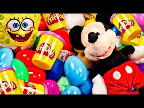Surprise Eggs Kinder Play Doh  Surprise Eggs Huevo kinder Sorpresa