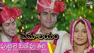 Puttille Veedevu Talli Video Song   పుట్టిల్లె వీడేవు తల్లి   Premalayam Movie   Hum Aapke Hain Kaun - RAJSHRITELUGU