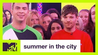 Louis Tomlinson Shows Off His Soccer Skills | Summer in the City | MTV - MTV