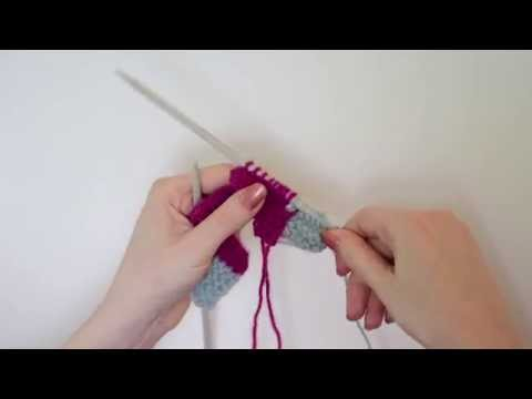 Knit Tips: Joining stitches  perpendicular to a previously worked row