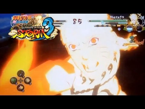 Naruto: Ultimate Ninja Storm 3: EMS Sasuke vs KCM Naruto (Planetary Rasengan )