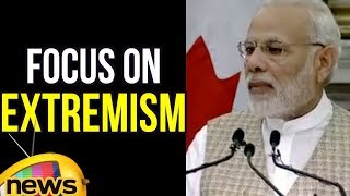 PM Modi Speech at a Joint Press Meet, Focus On Extremism | Mango News - MANGONEWS