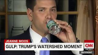 Trump sips water during speech like Rubio - CNN