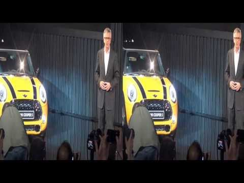 Mini Cooper press conference at the 2013 LA Auto show in 3D