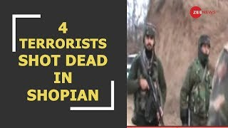 Deshhit: Four terrorists shot dead by security forces in J&K's Shopian - ZEENEWS