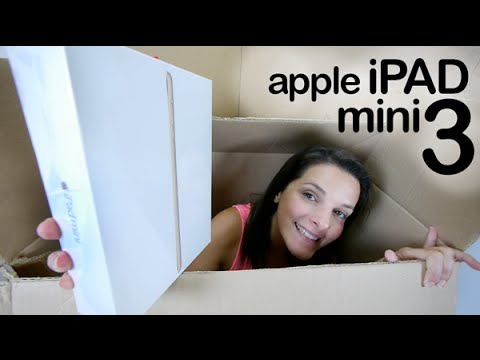 Apple iPad Mini 3 gold unboxing en español