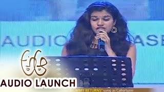 Sravana Bhargavi Live Performance at A Aa Audio Launch    Nithiin, Samantha - ADITYAMUSIC
