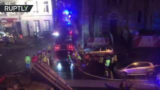 Huge explosion brings down building in Antwerp, Belgium - RUSSIATODAY