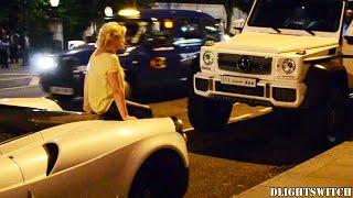 فيديو :فتاة تجلس على سيارة يزيد الراجحى ذات المليون يورو لالتقاط سيلفى