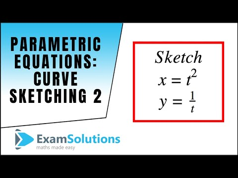 Parametric Equations : Curve Sketching (2) : ExamSolutions