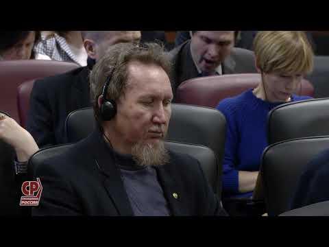 Выступление Сергея Миронова на пленарном заседании XVII Панаринских чтений 13.11.2019