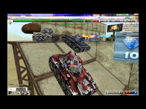 Tanki Online Railgun M1, Isida M1 and Hornet M1 Gameplay and Gold box fail