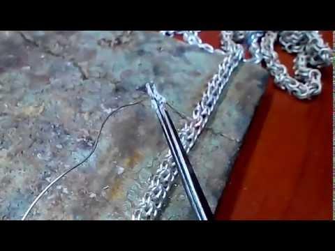 Как и чем запаять серебряную цепочку в домашних условиях