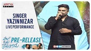 Singer Yazin Nizar Live Performance @ Hello Guru Prema Kosame Pre Release Event | Ram, Anupama | DSP - ADITYAMUSIC