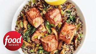 Teriyaki Salmon Quinoa Bowls | Food Network - FOODNETWORKTV