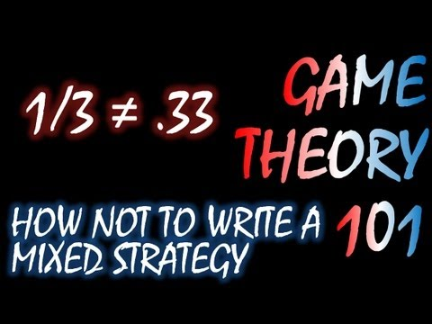 Game Theory 101: How NOT to Write a Mixed Strategy Nash Equilibrium