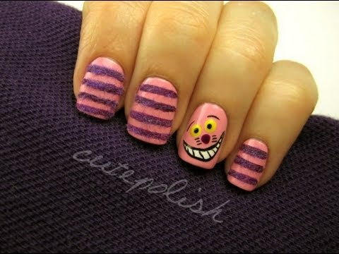 Cheshire Cat Nails (They're actually FUZZY!)