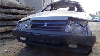 ваз 21099. перевертыш. опечаленное авто((