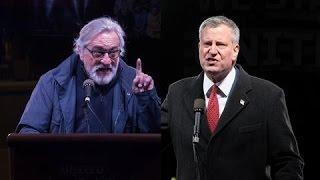 Bill de Blasio, Robert De Niro Lead Protest Against Trump's Inauguration - WSJDIGITALNETWORK