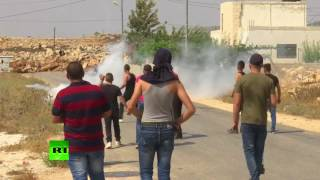 Israeli troops clash with Palestinian protesters after deadly stabbing of mother & 2 children - RUSSIATODAY